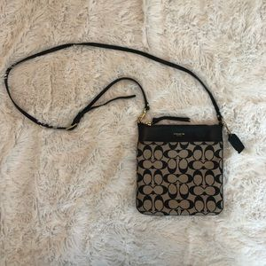 PRICE DROP Crossbody Coach Purse in Black/Beige